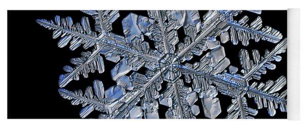 Snowflake Macro Photo - 13 February 2017 - 3 Black Yoga Mat
