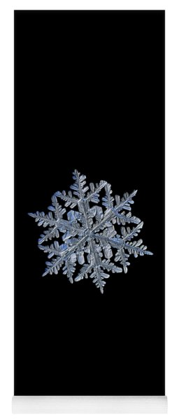 Snowflake Macro Photo - 13 February 2017 - 3 Black Yoga Mat