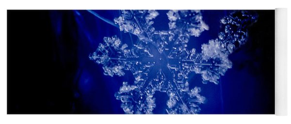 Snowflake On Blue Yoga Mat