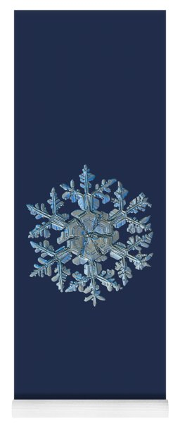 Yoga Mat featuring the photograph Snowflake Photo - Gardener's Dream by Alexey Kljatov