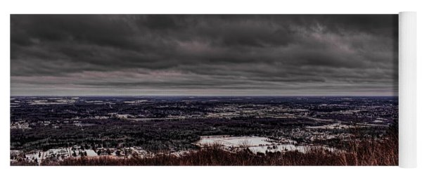 Snowstorm Clouds Over Rib Mountain State Park Yoga Mat