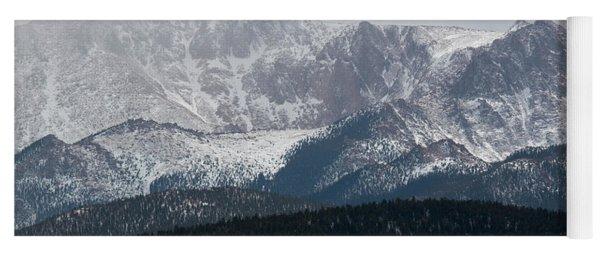 Snowstorm On Pikes Peak Yoga Mat