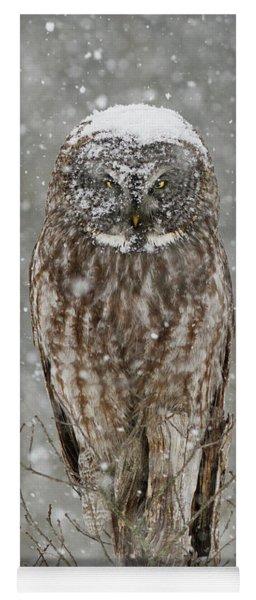 Snowstorm Owl Yoga Mat