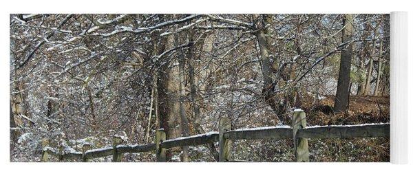 Winter Fence Yoga Mat