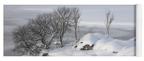 Snowy Landscape Yoga Mat
