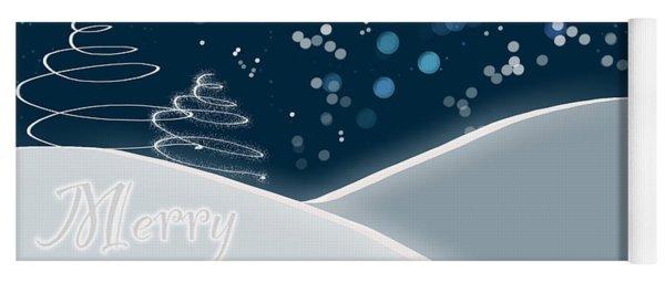 Snowy Night Christmas Card Yoga Mat