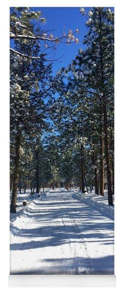 Snowy Road Yoga Mat