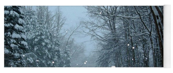 Yoga Mat featuring the photograph Snowy Street by Rockin Docks Deluxephotos