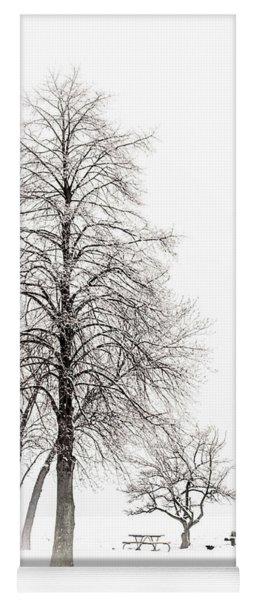 Snowy Trees Yoga Mat