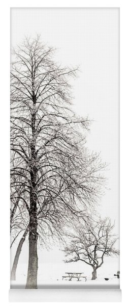 Snowy Trees Yoga Mat