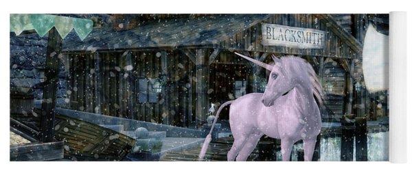 Snowy Unicorn Yoga Mat