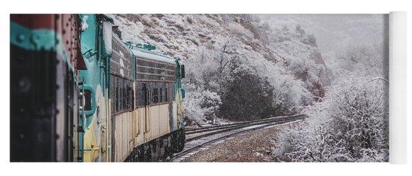 Snowy Verde Canyon Railroad Yoga Mat