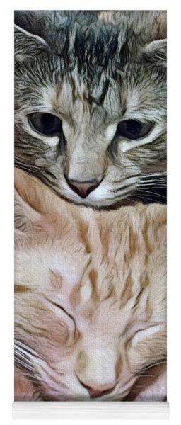Snuggling Kittens Yoga Mat