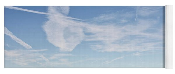 So Many Clouds And Contrails Yoga Mat