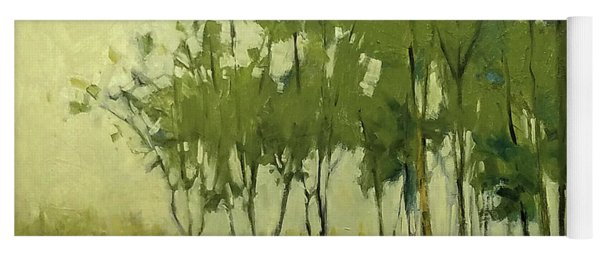 So Tall Tree Forest Landscape Painting Yoga Mat