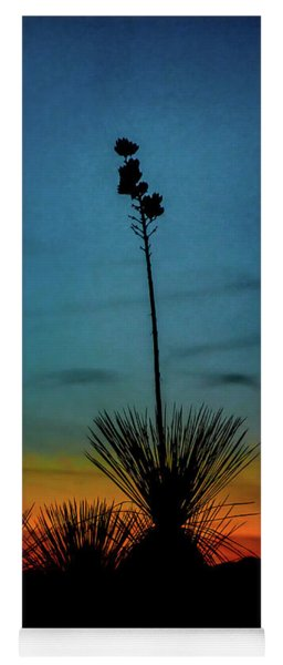 Soaptree Yucca At Sunset Yoga Mat