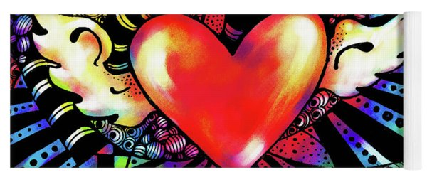Soaring Heart Coloration Yoga Mat