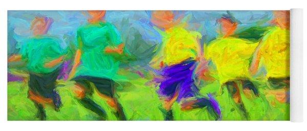 Soccer 3 Yoga Mat