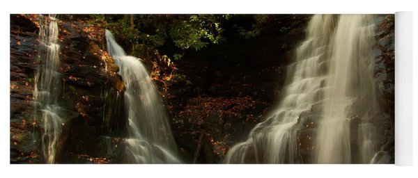 Yoga Mat featuring the photograph Soco Waterfalls From Spillway by Chris Flees