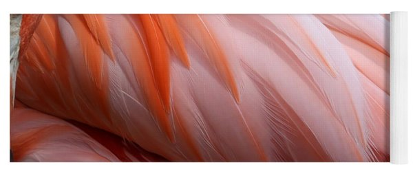 Soft And Delicate Flamingo Feathers Yoga Mat