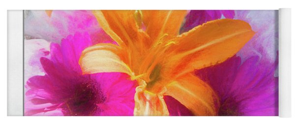 Soft Day Lily Yoga Mat