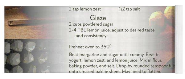 Soft Lemon Cookie Recipe Yoga Mat