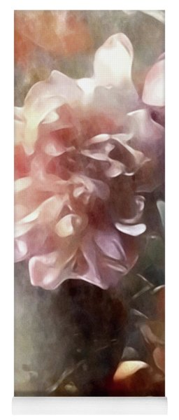 Yoga Mat featuring the mixed media Soft Pastel Peonies by Susan Maxwell Schmidt