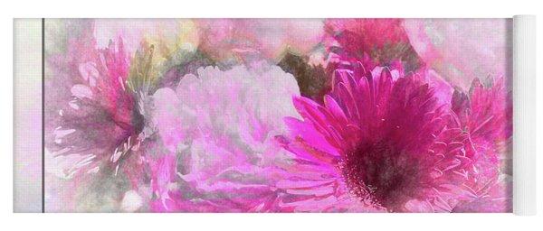 Soft Pink Gerbera Yoga Mat