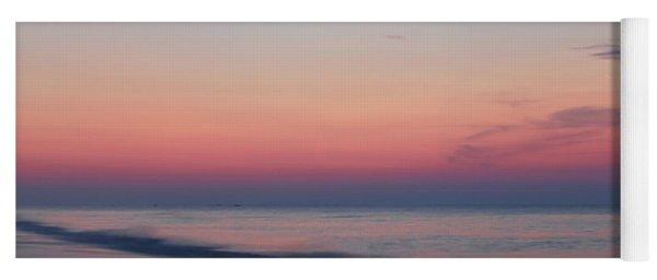 Soft Pink Sunrise Yoga Mat