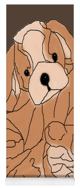 Yoga Mat featuring the digital art Soft Puppy by Jayvon Thomas