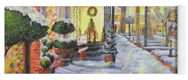 Soft Snowfall In Dahlonega Georgia An Old Fashioned Christmas Yoga Mat