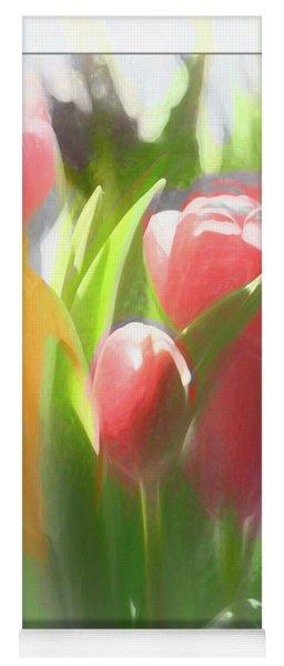 Soft Tulips Yoga Mat