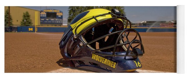 Softball Catcher Helmet Yoga Mat