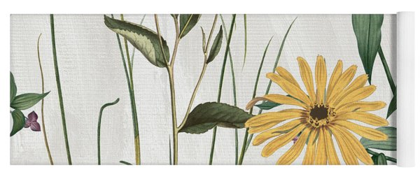 Softly Crocus And Daisy Yoga Mat