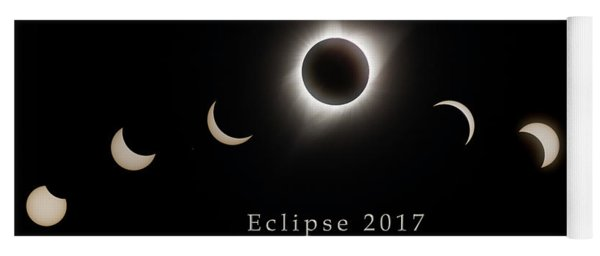 Yoga Mat featuring the photograph Solar Eclipse Collage 2 by Rikk Flohr