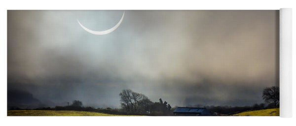 Solar Eclipse Over County Clare Countryside Yoga Mat
