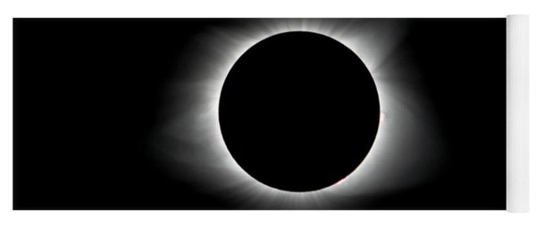 Yoga Mat featuring the photograph Solar Eclipse Ring Of Fire by Lori Coleman