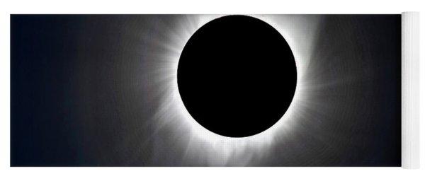 Solar Eclipse Totality Corona Yoga Mat