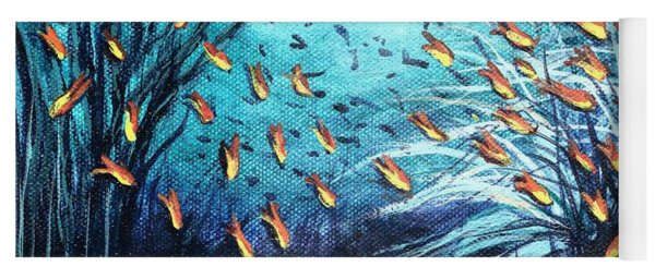 Soldier Fish And Coral  Yoga Mat