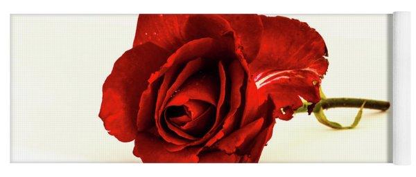 Red Rose Bud Yoga Mat