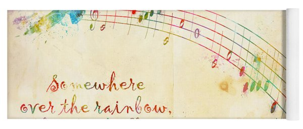 Somewhere Over The Rainbow Yoga Mat