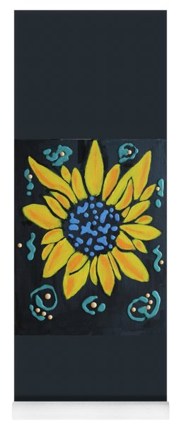 Yoga Mat featuring the painting Son Flower by Deborah Boyd