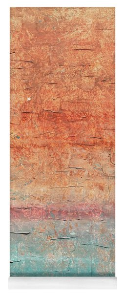 Sonoran Desert #1 Southwest Vertical Landscape Original Fine Art Acrylic On Canvas Yoga Mat
