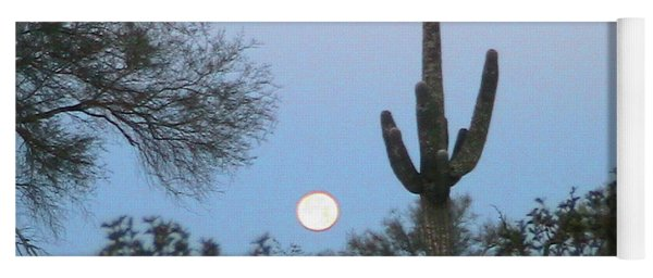 Sonoran Desert Moonset Yoga Mat