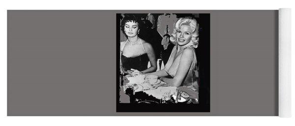 Sophia Loren And Jane Mansfield 1957-2015 Yoga Mat