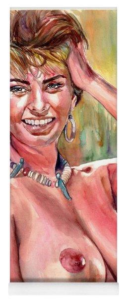 Sophia Loren Nude Yoga Mat