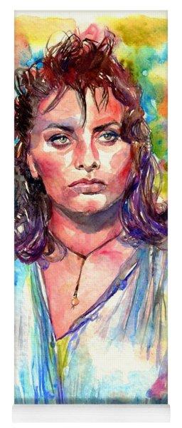 Sophia Loren Painting Yoga Mat