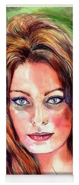 Sophia Loren Portrait Yoga Mat