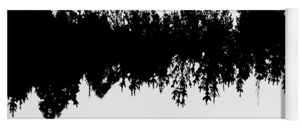 Sound Waves Made Of Trees Reflected Yoga Mat