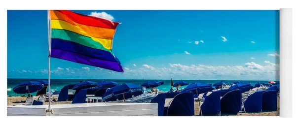 Yoga Mat featuring the photograph South Beach Pride by Melinda Ledsome